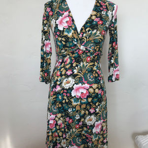 Anthropologie Floral Knit Dress